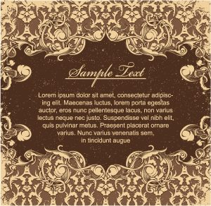 Vector Vintage Grunge Floral Background Vector Illustrations old