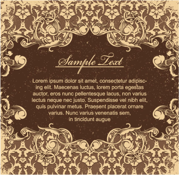 New Rusty Vector: Vector Vintage Grunge Floral Background 2010 04 24 1029
