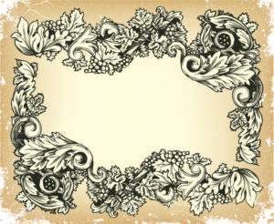 Vector Vintage Grunge Floral Frame Vector Illustrations old
