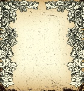 Vector Vintage Grunge Floral Background Vector Illustrations old