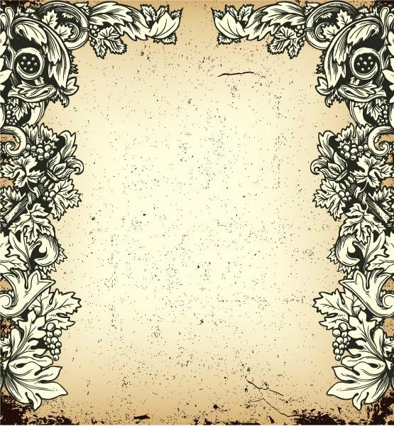 Lovely Background Vector Artwork: Vector Artwork Vintage Grunge Floral Background 5