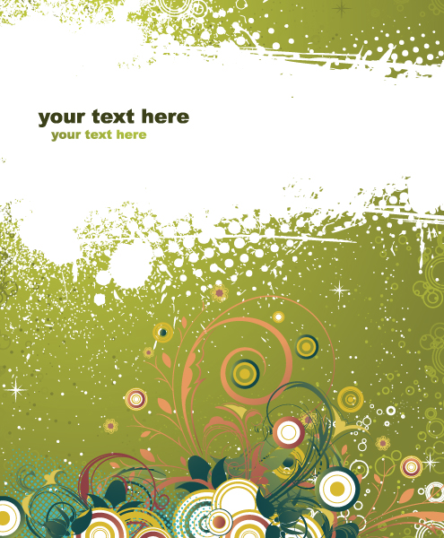 Best Rust Vector: Vector Grunge Background With Floral 2010 04 25 1017