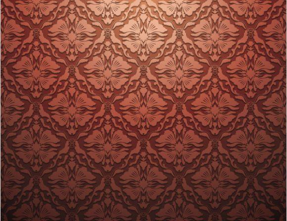Best Leaf Eps Vector: Damask Floral Background Eps Vector Illustration 5