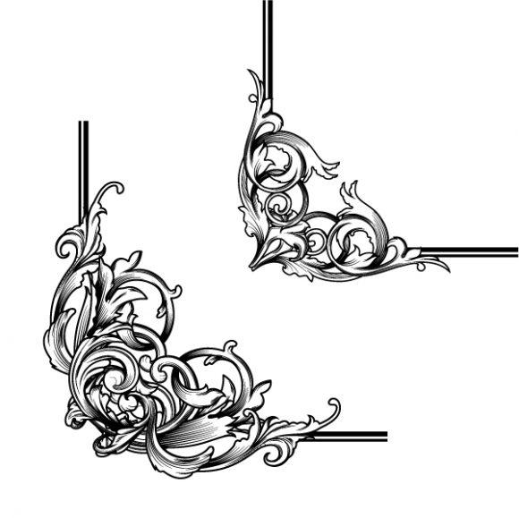 Illustration Vector Illustration: Vintage Floral Corners Vector Illustration Illustration 2010 04 27 1016