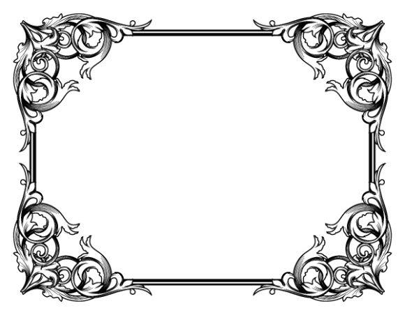 Trendy Illustration Vector: Vintage Floral Frame Vector Illustration 2010 04 27 1018