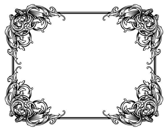Floral, Vector Vector Vintage Floral Frame Vector Illustration 2010 04 27 1019
