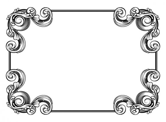 Vintage Floral Frame Vector Illustration 2010 04 27 1022