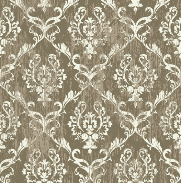 Illustration, Grungy, Background Vector Illustration Vintage Damask Background Vector Illustration 5