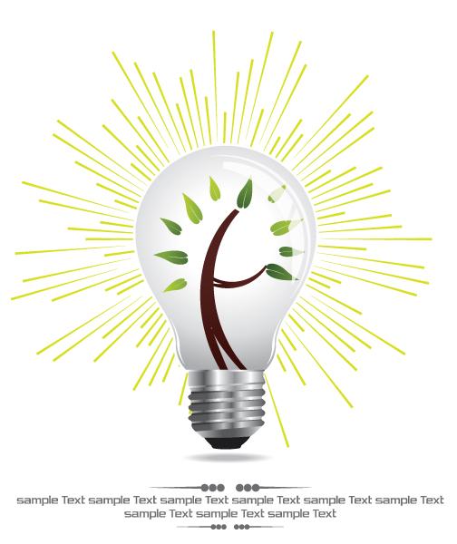 Vector, Light, Ray Vector Artwork Eco Light Bulb Vector Illustration 5