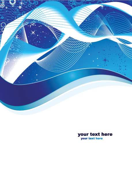 Vector Abstract Background In Blue Color Vector Illustrations wave