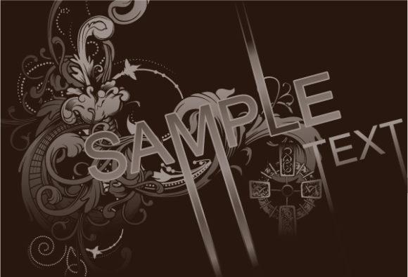 Smashing Illustration Eps Vector: Vintage Damask Background Eps Vector Illustration 2010 04 30 1016