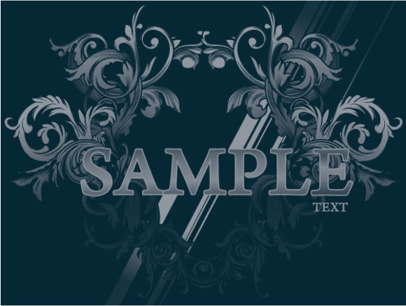 Unique Damask Vector Art: Vintage Damask Background Vector Art Illustration 5