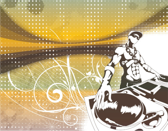 Exciting Concert Vector Illustration: Vector Illustration Concert Poster With Dj 2010 04 3 102