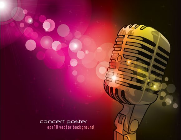 Special With Vector Artwork: Vector Artwork Concert Poster With Microphone 1
