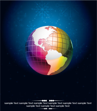 Vector Abstract Background With Globe Vector Illustrations vector