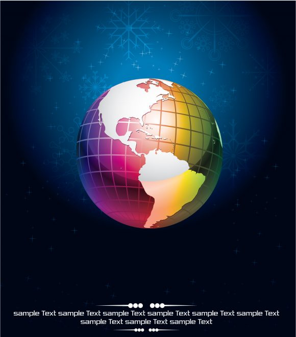 Vector, With, Clean Eps Vector Vector Abstract Background With Globe 2010 04 5 1023