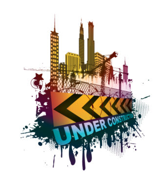 Vector Under Construction Sign With Grunge Vector Illustrations building