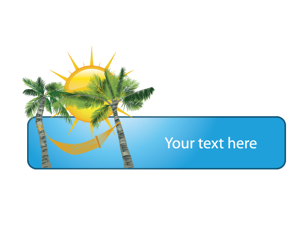 Summer Frame With Palm Trees Vector Illustrations palm