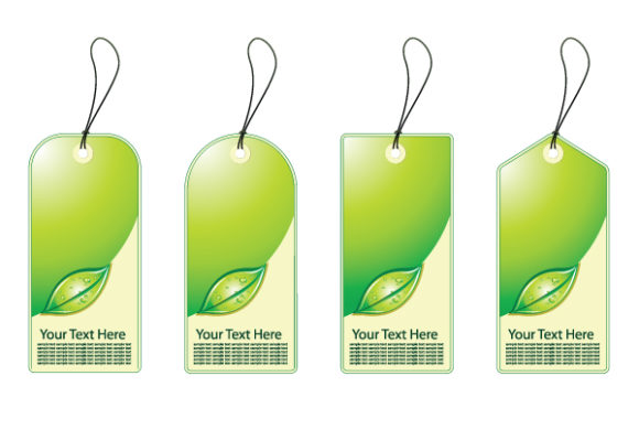Shopping, Eco Vector Graphic Eco Shopping Tags Vector Illustration 2010 05 26 1044