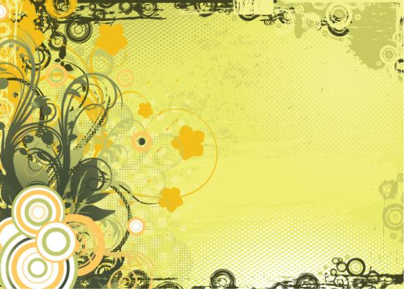 Floral, Vintage-2, Background Eps Vector Vintage Floral Background Vector Illustration 2010 05 2 102