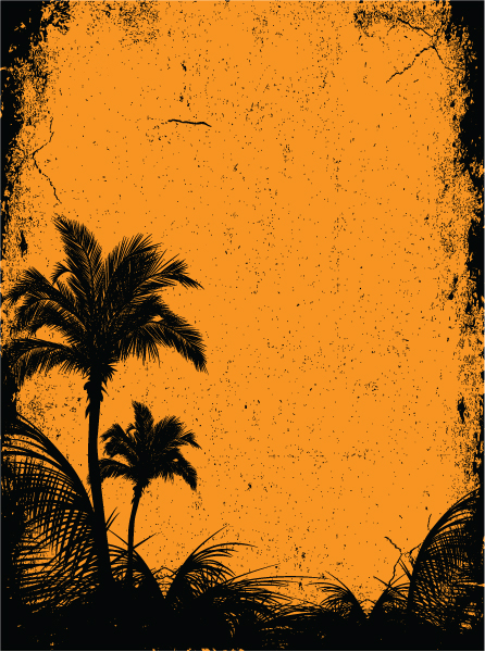 Surprising Summer Eps Vector: Summer Background With Palm Trees 5