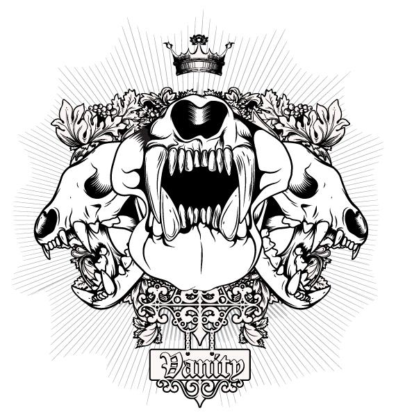 Vintage, Tee, Tshirt Vector Artwork Vintage Tshirt Design With Skulls 5