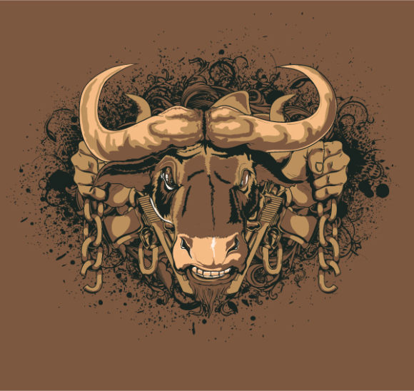 Chain Vector Illustration: Vector Illustration Vintage T-shirt Design With Animal 5