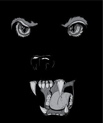 Vector T-Shirt Design With Raging Panther Vector Illustrations old