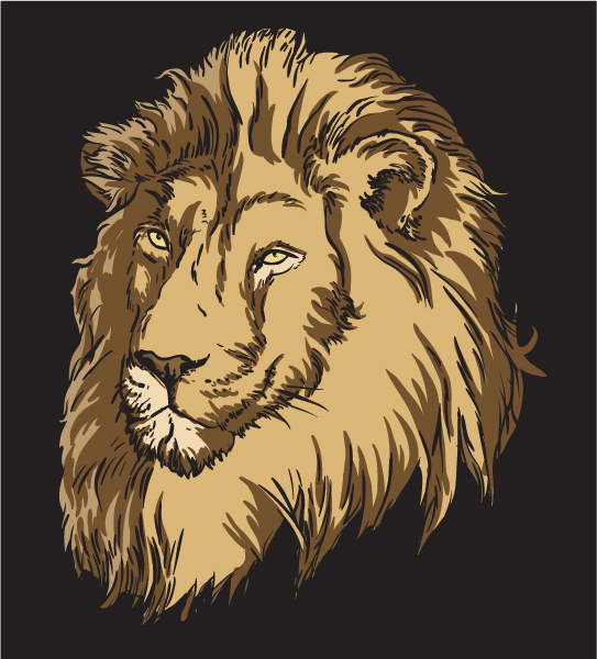 Raging, With, Lion, Old Vector Art Vector T-shirt Design With Lion 5