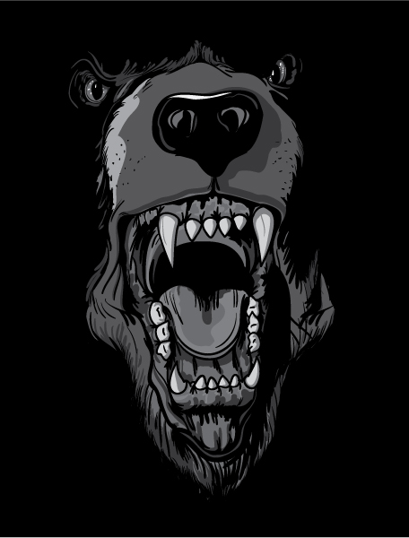Bear, Vector Vector Artwork Vector T-shirt Design With Raging Bear 2010 06 11 106