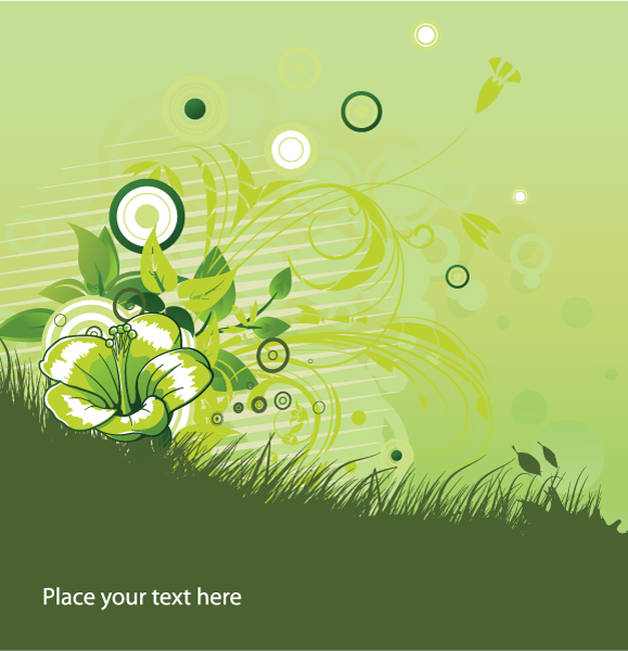 Amazing Vector Vector Image: Floral Background With Circles Vector Image Illustration 2010 06 13 101