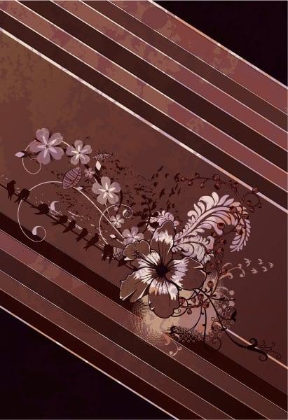 Bold Grunge Vector: Grunge Floral Background Vector Illustration 5