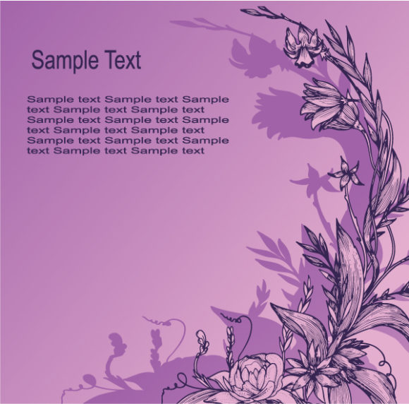 Illustration, Background Vector Background Vintage Floral Background Vector Illustration 2010 06 15 10104