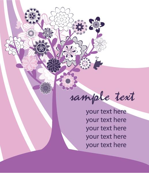 Vector Vector Graphic Vintage Floral Background Vector Illustration 5