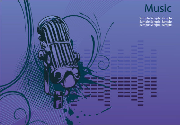 Vector, Concert Eps Vector Concert Poster With Microphone Vector Illustration 5
