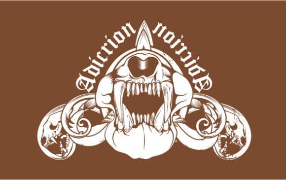 Exciting Skulls Vector: Vector T-shirt Design With Animal Skulls 2010 06 17 101
