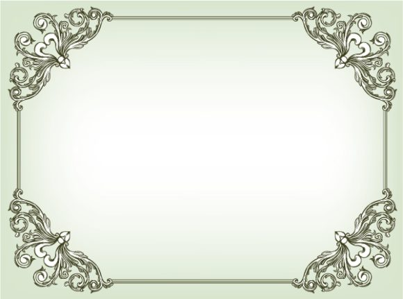 Amazing Frame Vector Artwork: Baroque Floral Frame Vector Artwork Illustration 5