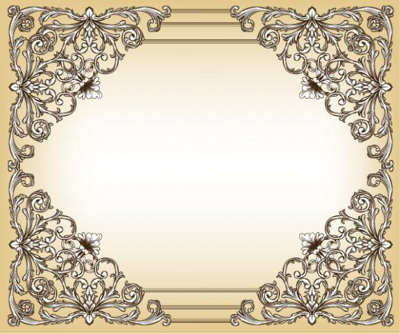 Illustration Eps Vector Baroque Floral Frame Vector Illustration 2010 06 17 1017