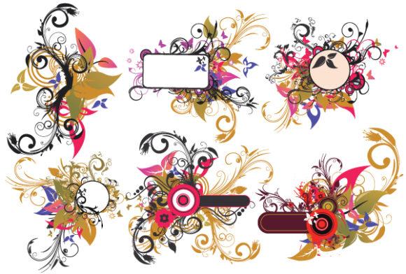 Floral, Illustration Vector Art Vintage Floral Frames Set Vector Illustration 2010 06 17 1033