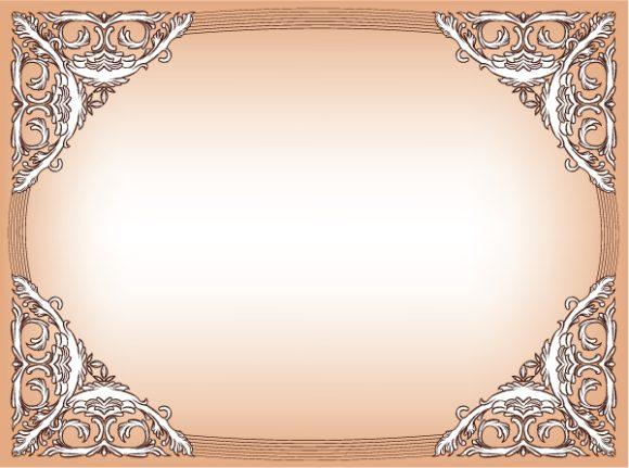 Download Illustration Vector: Baroque Floral Frame Vector Illustration 2010 06 17 1055