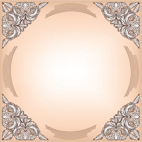 Frame, Baroque, Floral Vector Image Baroque Floral Frame Vector Illustration 5