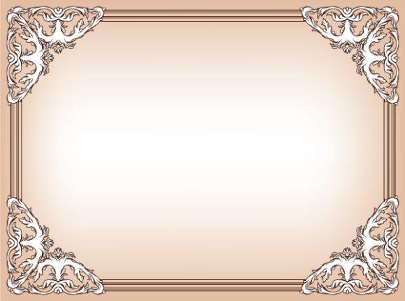 Vector Vector Illustration Baroque Floral Frame Vector Illustration 2010 06 17 1058