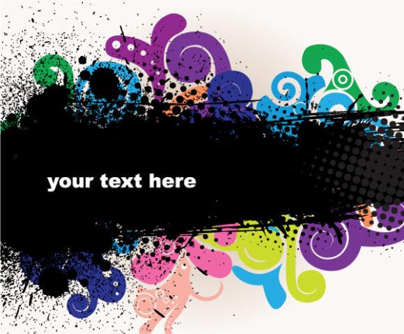 Best Background Vector Illustration: Vector Illustration Grunge Background With Liquid Floral 2010 06 18 1067