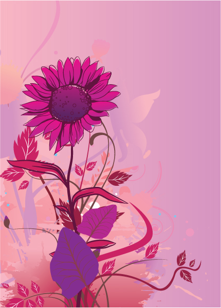 Grunge, Background Vector Artwork Vector Grunge Background With Floral 1