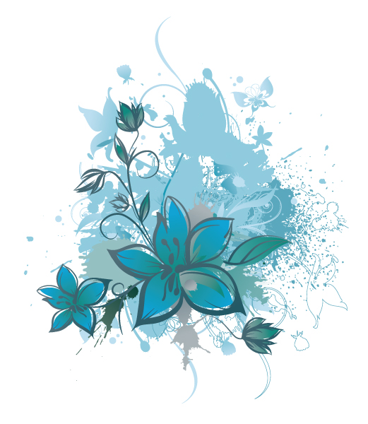 Floral, Background Vector Art Vector Grunge Background With Floral 2010 06 18 1095