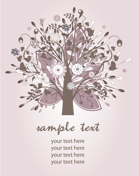 Vector Vector Illustration Vector Retro Background With Tree 1