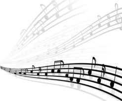 Vector Musical Background With Different Notes Vector Illustrations wave