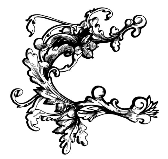Illustration, Plant, Vector, Baroque Vector Art Baroque Floral Element Vector Illustration 1