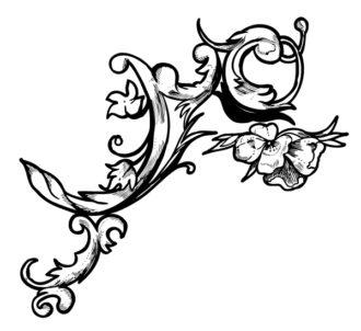 Baroque Floral Element Vector Illustration Vector Illustrations old