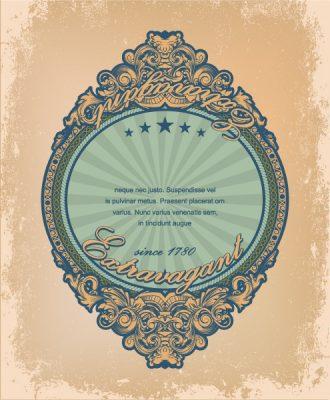 Vintage Label With Grunge Background Vector Illustration Vector Illustrations star